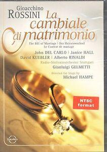 Gioacchino Rossini La Cambiale di Matrimonio DVD NEW Bill of Marriage Del Carlo