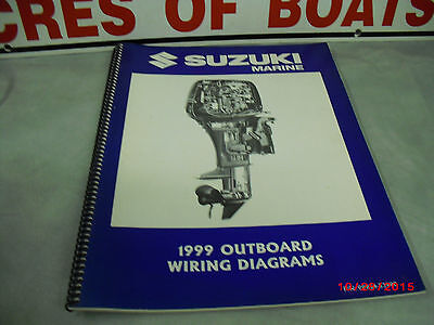 1999 SUZUKI Marine Outboard Wiring Diagram OEM 99954-53990 ...