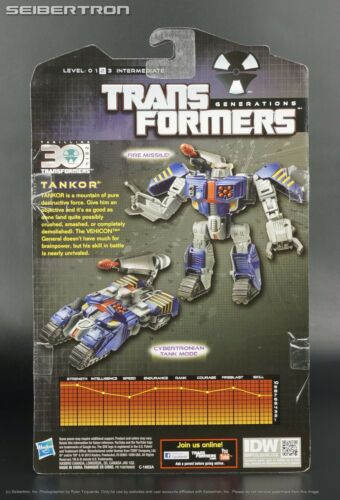TANKOR Transformers Generations IDW Comic Deluxe 2014 Beast Machines Vehicon New