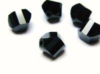 4pcs Swarovski® Lucerna Beads 5030 8mm Jet