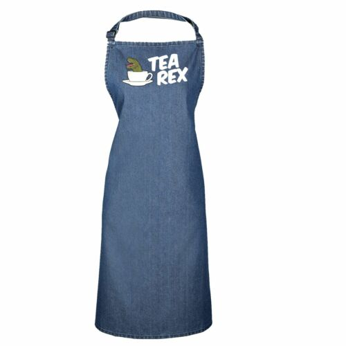 Tea Rex Funny T-Rex Cuppa English Joke Adult Kitchen Cooking PREMIER APRON