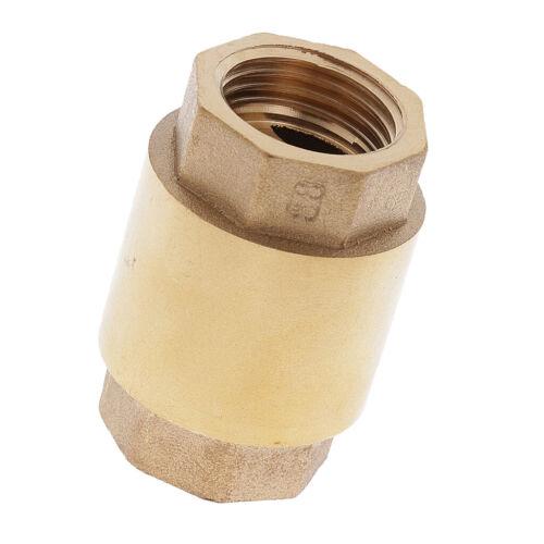 DN15  1//2 Zoll  Messing Rückschlagventil  Saugventil  für Wasser und Gas