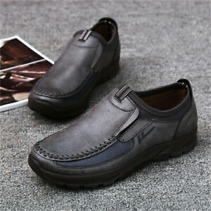 Fashion-Men-039-s-Summer-Leather-Casual-Shoes-Breathable-Antiskid-Loafers-Moccasins