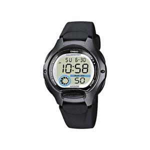 New-Casio-Women-039-s-Black-Resin-Strap-LED-Dual-Time-Illuminator-Watch-LW-200-1BVDF