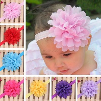 New Kids Baby Girls Toddler Lace Flower Headband Hair Band Headwear Accessories