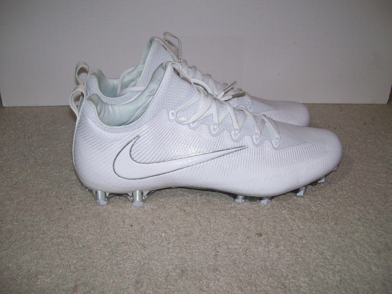 SZ 15 NEW Mens Nike Vapor Untouchable Pro Football Cleats White White 833385-110