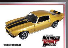 1971 Camaro Z28 PLACER GOLD 1:18 Auto World 968