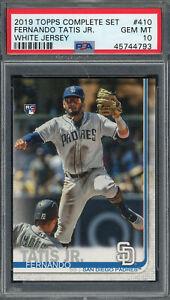 Fernando Tatis Jr San Diego Padres 2019 Topps Baseball Rookie Card #410 PSA 10