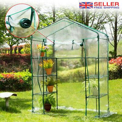 New Walk In Greenhouse PVC Plastic Garden Grow Green House