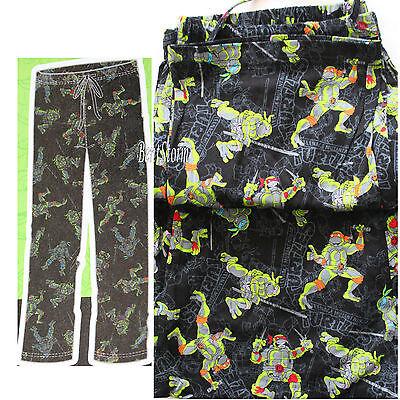 Teenage Mutant Ninja Turtles TMNT Face Print Mens Loungewear Lounge Pants X-Large
