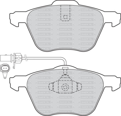 OEM SPEC FRONT AND REAR PADS FOR VOLKSWAGEN SHARAN 1.9 TD 2006-09