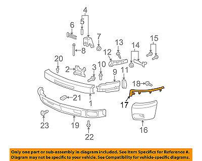 For 2007-2010 CHEVY SILVERADO 2500//3500 6.0L ENG FRONT BUMPER FILLER SET