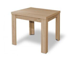Tisch-Esszimmertisch-Esstisch-80-x-80-cm-Eiche-Saegerau-ausziehbar-auf-136-cm