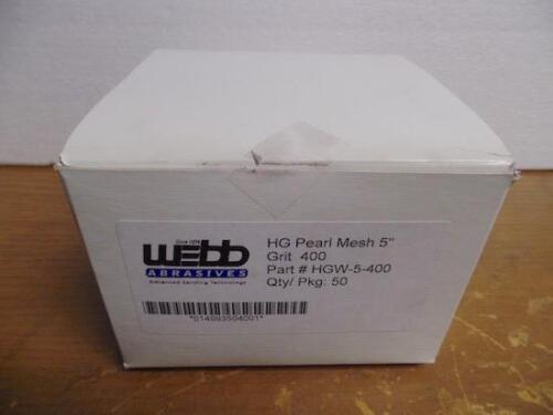 "WEBB ABRASIVES HGW-5-400 HG PEARL MESH 5/"" ABRASIVE PAD"