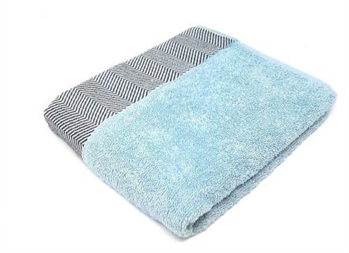 4 X HERRINGBONE 100/% COMBED COTTON DUCK EGG BLUE HOTEL QUALITY BATH SHEET TOWEL