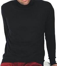 Balldiri 100% Cashmere Herren Rollkragen Pullover 2-fädig schwarz XL