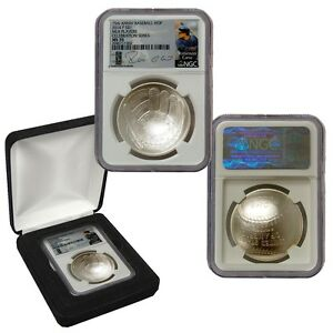 2014-P $1 Baseball Hall of Fame Silver Dollar NGC MS70 Dodgers MLB Label