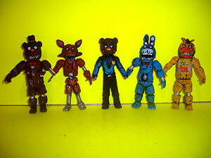 Details about mexican FIVE NIGHTS AT FREDDY'S SET 5 NIGHTMARE ANIMATRONICS  action figure FNAF