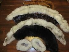 Lot Of Vintage Fur Stoles Collars Sleeve Mink White Silver Grey Brown Black Gray