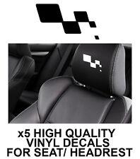 RENAULT SPORT HEADREST LOGO CAR SEAT DECALS Vinyl Stickers - Graphics X5