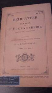 Rivista Beiblatter N° 6 Zu Den Annalen Der Physik Und Chemie 1892 Lipsia Verlag