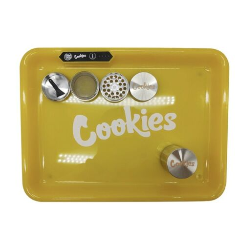 Yellow Cookies Glow Tray With Grinder