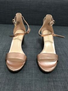 Details about Nine West Women's Pruce Block Heel Ankle Strap Sandals. Size 6. Rose Gold!!!