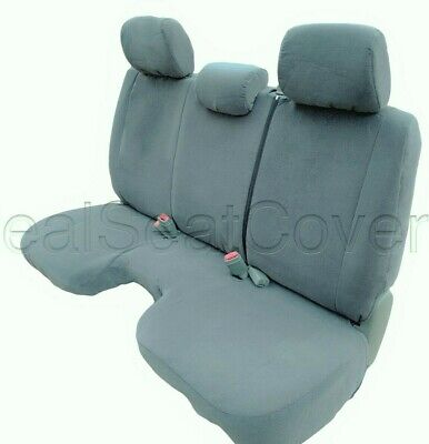 Astounding Gray Front Bench Seat Cover Large Notched Cushion 3 Adj Headrest Exact Fit Ebay Caraccident5 Cool Chair Designs And Ideas Caraccident5Info