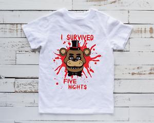 FNAF Kids T-Shirt Gaming Gamer Top Children's Five Nights Freddy Tee Gift Idea