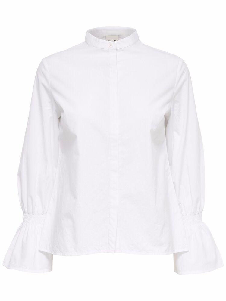 3/11 Neuf Studio By Only Femmes Chemise Chemisier Tunique Shirt Top Manches Longues Taille 38 M Blanc Les Commandes Sont Les Bienvenues.