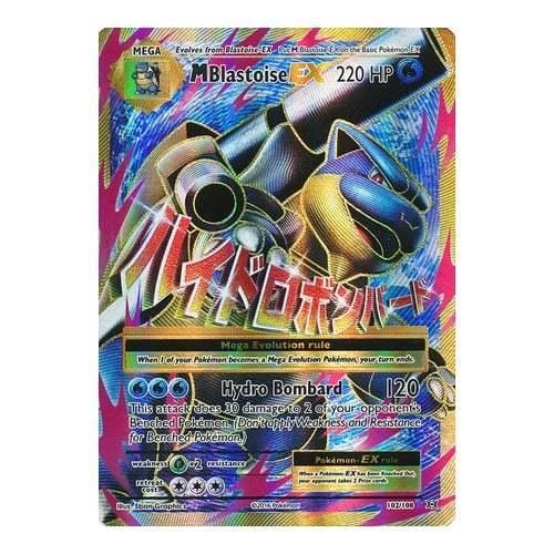 Pokemon XY Evolutions Mega-Blastoise-EX 102//108  Full Art Ultra Rare Card