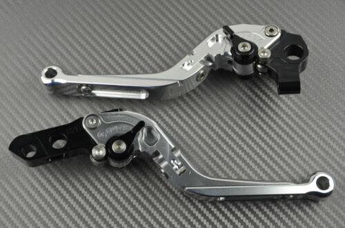 Adjustable Folding Flip Up Levers SILVER HONDA Magna VF 750C 750 Toutes