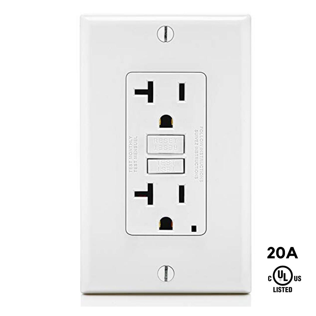 GFCI Outlet Receptacle Tamper Resistant TR 20A White UL2008 10 PCS