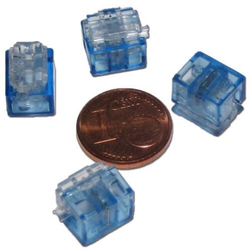 4x MINI derivazione connettore blu 0,1 a 0,9 mm² ladro di elettricità