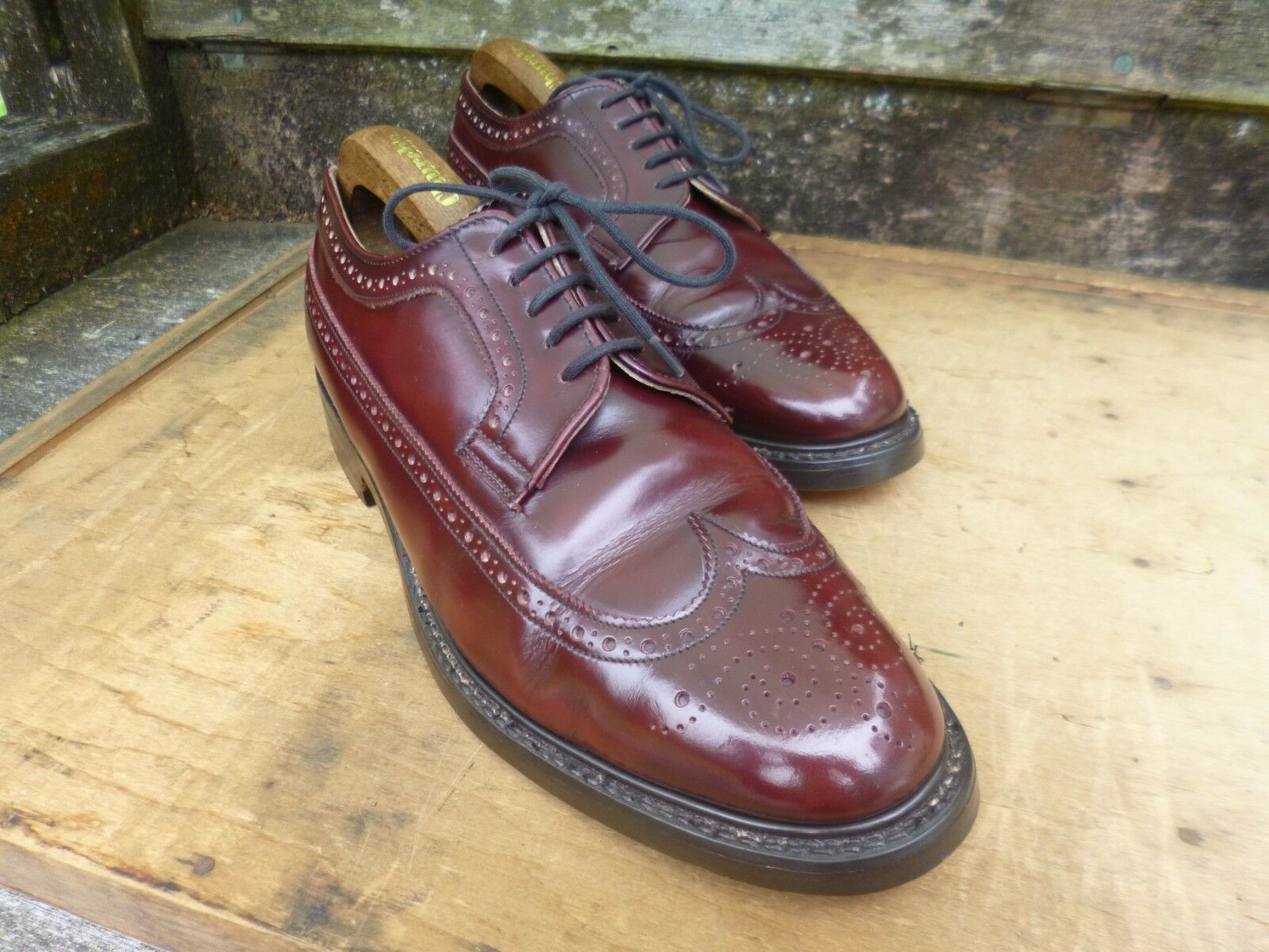 CHEANEY BROGUES – BROWN   OXBLOOD – – LINCOLN - EXCELLENT CONDITION