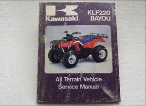 KAWASAKI BAYOU 220 KLF220 SERVICE REPAIR MANUAL 1988-2002