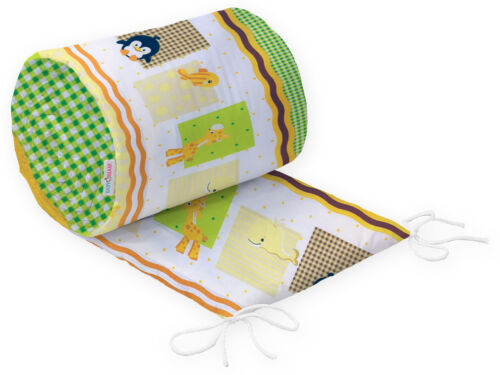PADDED BUMPER STRAIGHT BABY COT COTBED NURSERY BEDDING FIT 120x60 140x70