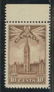 Canada 1942 10c Brown Parliament Sc# 257 NH