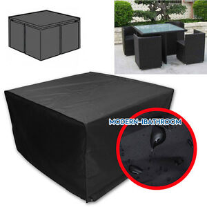 Heavy Duty Square Cube Cover Waterproof Garden Patio Table Chair Set