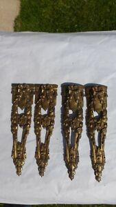 4-Anciennes-garnitures-bronze-dore-ornement-4-Ancient-gilt-bronze-ornaments-C
