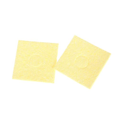 10Pcs Soldering Iron Yellow Cleaning Sponge Cleaner for Electric Welding 6*6C/_vi