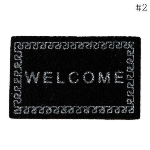 Bienvenue à la maison Entrée Sol Tapis antidérapante DECO z1j6 tapis Pied b0t8