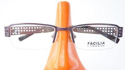 Energisch Brillengestell Brille Teilrandlos Halbrand Metall Fassung Lochmuster Eckig Lila Bestellungen Sind Willkommen.