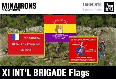 15mm War of Spanish Succession flags Minairons 1:100 Valencia City Regt