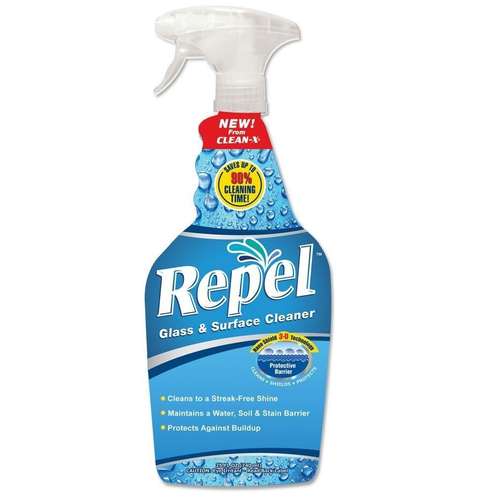 New Repel Glass Cleaner Nano Shield Tech Solvent Free N