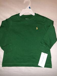 Ralph-Lauren-Baby-Boys-Cotton-Long-Sleeve-Crew-T-Shirt-Green-24-Months