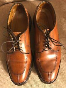 Allen Edmonds leather dress men's shoes  oxfords cognac size 9D