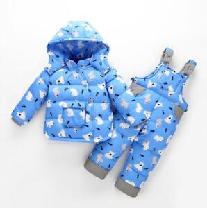 bc1d0b28d 2pcs Toddler Boys Girls Puffer Down Jacket Hooded Warm Thick Coat ...