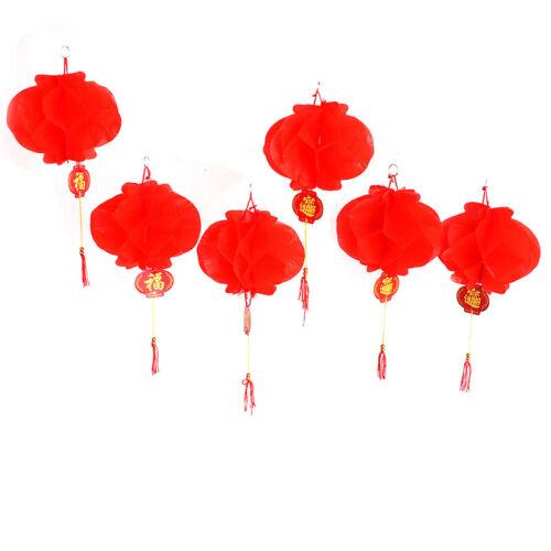 6pcs new year 2020 paper lantern chinese festival red lantern pendant Decor6ON