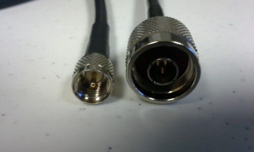 US MADE       LMR-240   N  Male to   MINI UHF 50 ohm  Male coax cable   35  FT